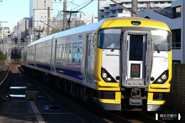 E257系電車 NB-16編成(幕張車両センター)/2006-11-12 本千葉 新宿わかしお号