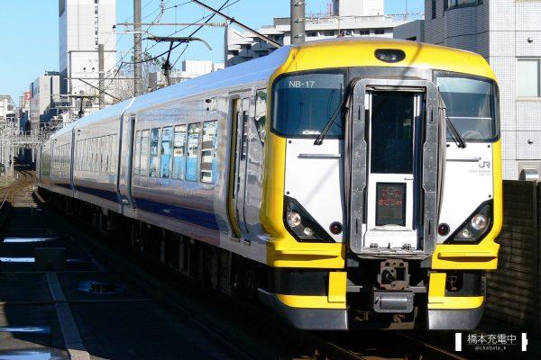 E257系電車 NB-17編成(幕張車両センター)/2006-11-12 本千葉