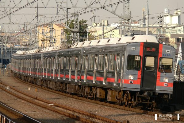 東急8000系 8017F/2007-12-10 多摩川
