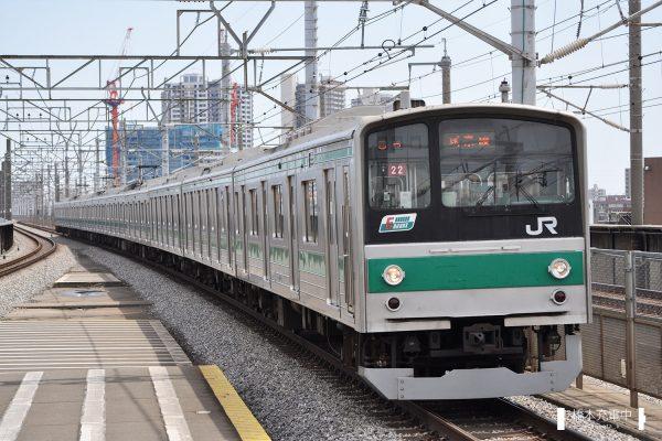 205系電車 22編成(川越車両センター)