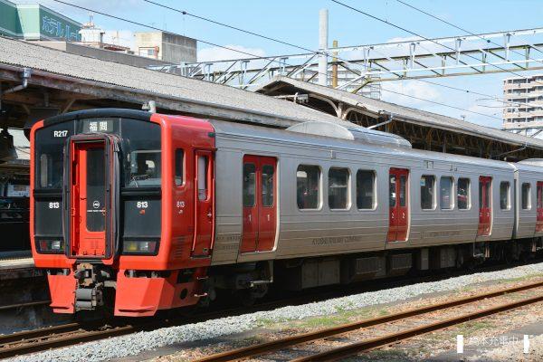 813系電車 R217編成(南福岡車両区)/2016-01-30 鳥栖