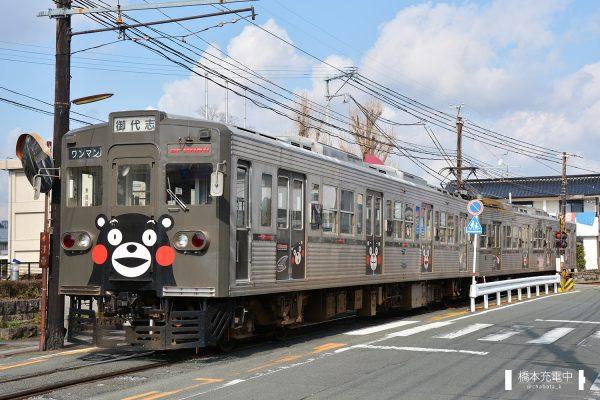 熊本電鉄6000形 6221ef+6228A/2016-01-31 藤崎宮前-黒髪町