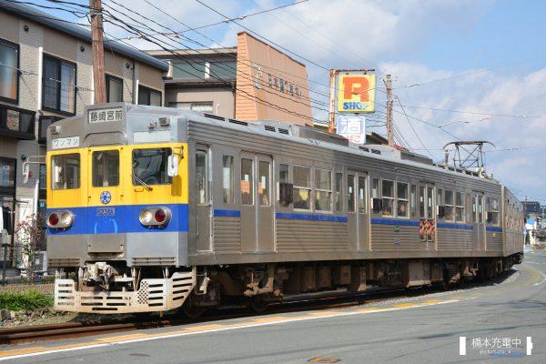 熊本電鉄6000形 6131A+6138A/2016-01-31 藤崎宮前-黒髪町