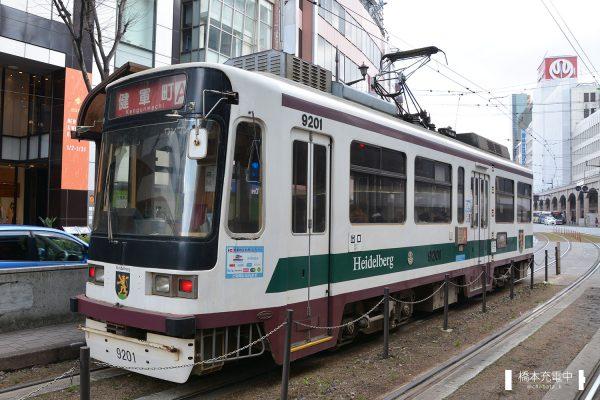 熊本市交通局9200形 9201 2016-01-31  通町筋