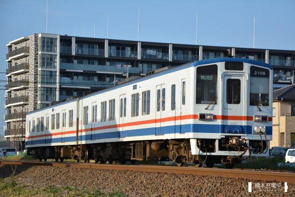 関東鉄道キハ2100形 2107-2108 2017-11-03 新守谷-守谷