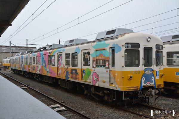 高松琴平電鉄1200形 1203-1204/仏生山検車区で留置中の1203-1204(2018-01-22 仏生山)