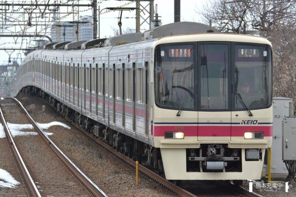 京王8000系 8710F/準特急運用に入る8710F(2018-01-28 武蔵野台)