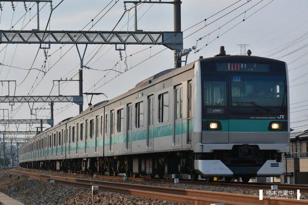 E233系電車 11編成(松戸車両センター)/小田急多摩線内を走るE233系マト11編成(2018-02-26 栗平-五月台)